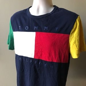 Tommy Hilfiger Multicolored Embroidered T-shirt